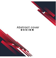 Red and black abstract template concept design vector