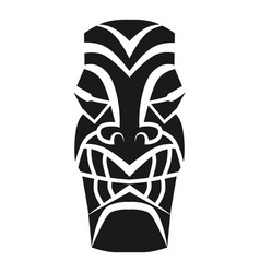 Ritual tribal idol icon simple style vector