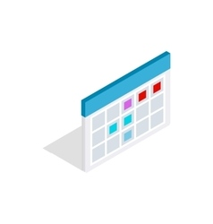 Schedule icon in isometric 3d style vector image