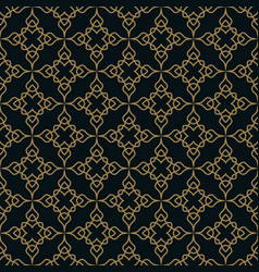 Seamless pattern graphic lines ornament floral vector