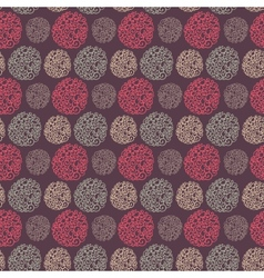 Seamless pattern with round doodle elements vector image