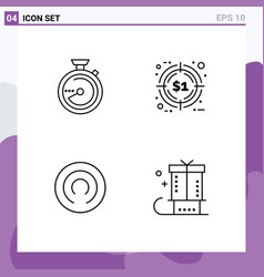 Set 4 modern ui icons symbols signs for browse vector