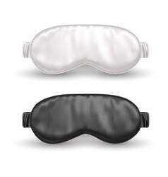 Set isolated white and black eye mask for sleep vector