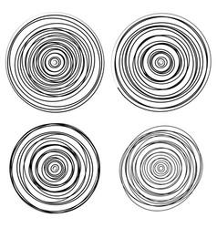 Set of dandom intersecting tangled circles vector