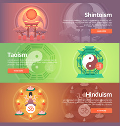 Shintoism japanese religion taoism hinduism vector