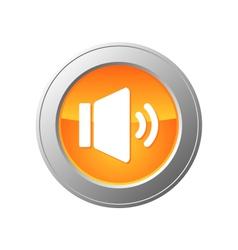 sound button vector image vector image
