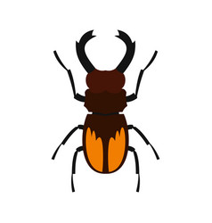 stag beetle icon flat style vector image