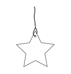 star pendant of thread monochrome dotted vector image