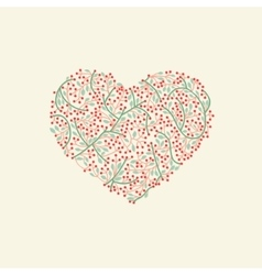 Stylized heart for valentine day vector image