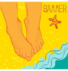 Summertime concept vector image