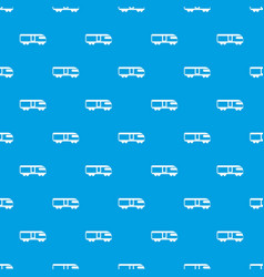 Swiss mountain train pattern seamless blue vector