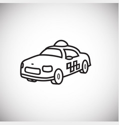 taxi cab thin line on white background vector image