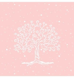 Tree on a gentle background vector