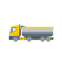 truck tractor for grit transportation side view vector image