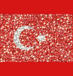 Turkey sparkling flag vector