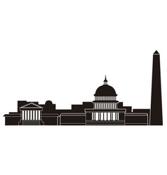 washington cityscape silhouette vector image