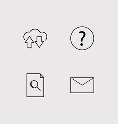 Web simple linear icons set outlined icons vector