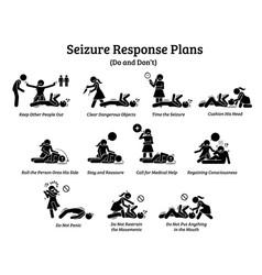 What to do during a seizure list seizure vector