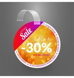 Wobbler design template for autumn sale event vector image