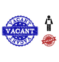 worker person grunge icon and stamps vector image