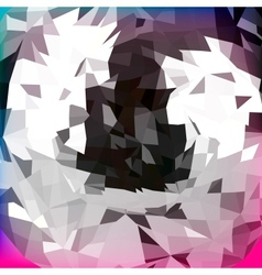 Abstract polygonal background for design vector image vector image