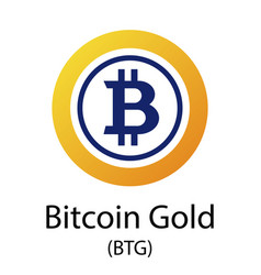 bitcoin gold cryptocurrency symbol vector image vector image