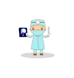 cute cartoon doctor vector image