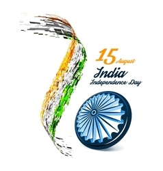 Indian Independence Day background vector image vector image