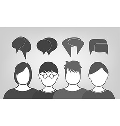 People talking background vector image vector image