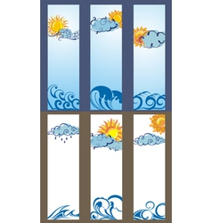 Set of Sun banners vector image