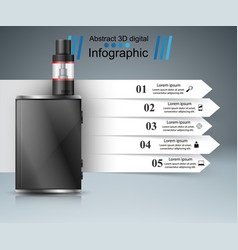 Vape vaper smoke - business infographic vector