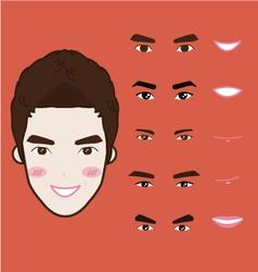 cartoon character pack vector image