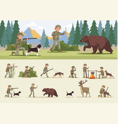 Colorful hunting concept vector