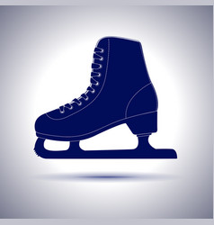 Ice skate blue icon vector