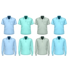 Men polo-shirt Shades of blue vector image vector image