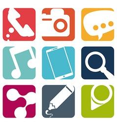 Mobile apps design vector image