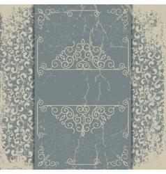 old worn vintage background card vector image