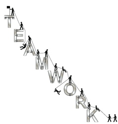 TEAMWORK MESSAGE vector image vector image
