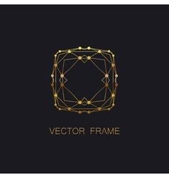 art-deco golden frame vector image vector image