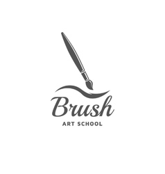 Brush emblem vector image vector image