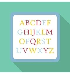 Children abc icon flat style vector image