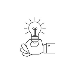 hand holding a light bulb vector image vector image