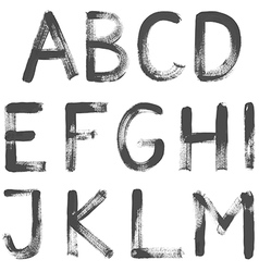 Hand Painted Letters vector image vector image