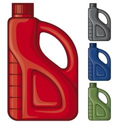 plastic gallon vector image vector image