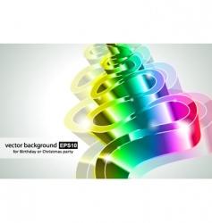 rainbow business card vector image