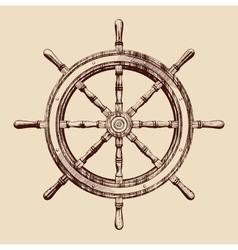 ship wheel vector image vector image