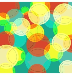 Abstract background with many colorful circles vector image