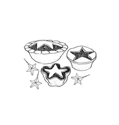 hand drawn sketch of a traditional christmas vector image vector image