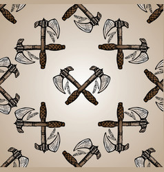 indian axes seamless pattern vector image