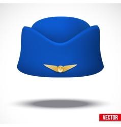 Stewardess hat of air hostess uniform vector